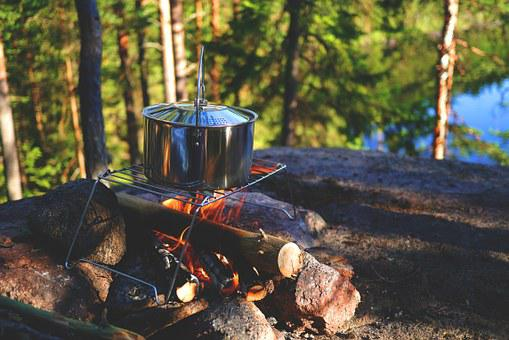 Campfire, Stock, Outdoor, Pot, Fireplace
