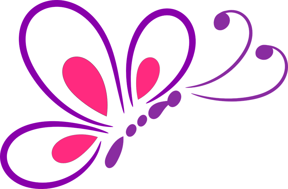 Line Art Vector Png : Butterfly outline design · free vector graphic on pixabay