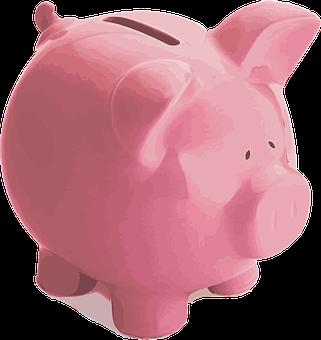 Pig Piggy Bank Pink Finance Money Save Inv