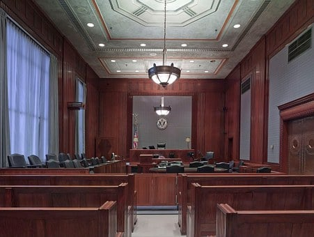 Courtroom, Benches, Seats, Law, Justice