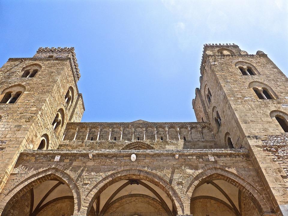 Cefalu, Cattedrale, Prospettiva, Costruzione, Sicilia