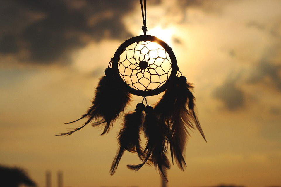 Dream Catcher, Kultura, Indyjski, Dream, Słońce
