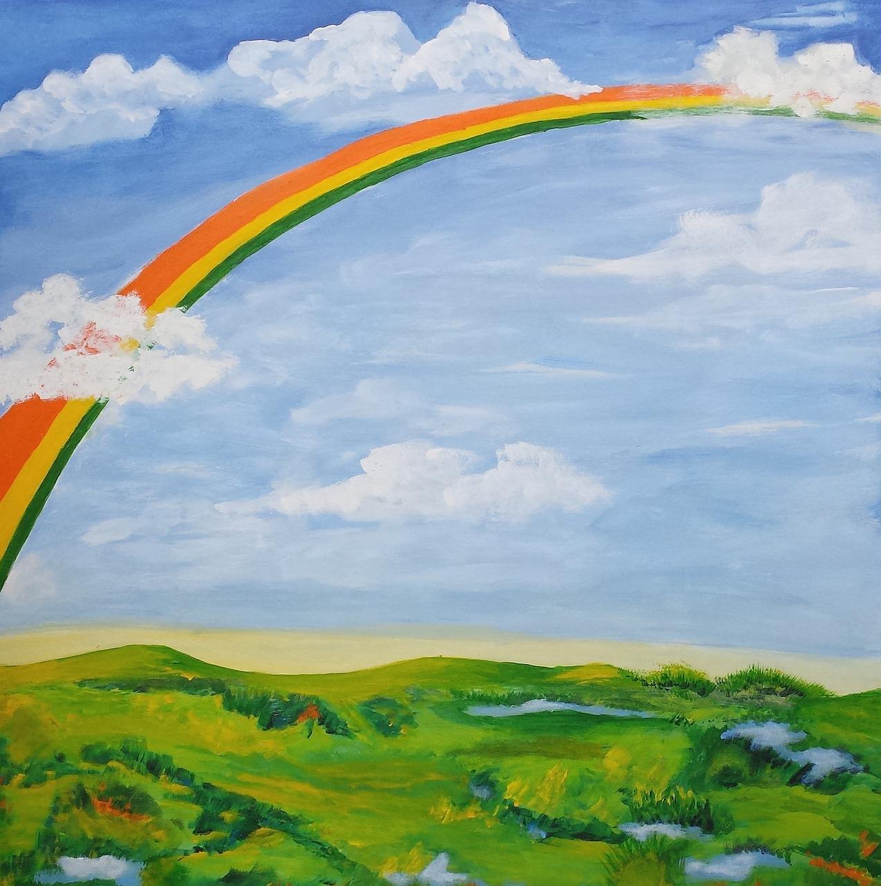 Марта для, открытки с радугой в поле