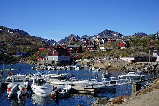 Greenland, Port, Boats, Pier