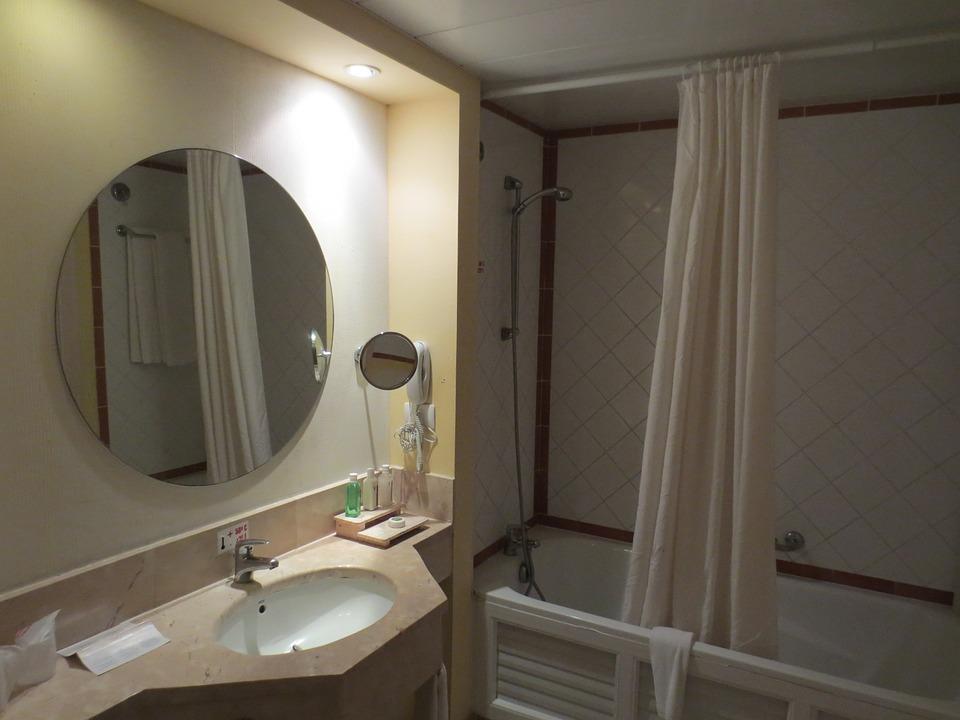 무료 사진: 욕실, 미러, 조명 욕실 거울, 내부, 목욕, 샤워, 타일 ...