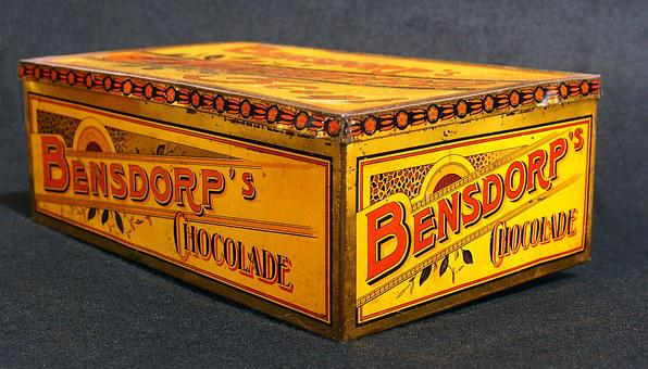 Bensdorps, Chocolade, Box, Tin, Package