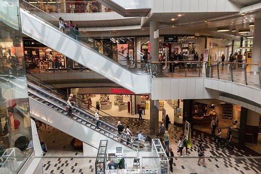 Escaleras, Centro Comercial, Tienda
