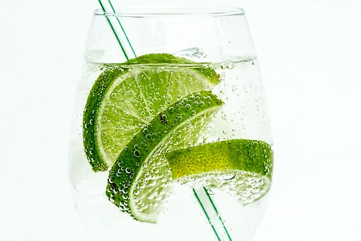 ライム, クラブソーダ, ドリンク, カクテル, ジュース, 冷, ガラス, 緑