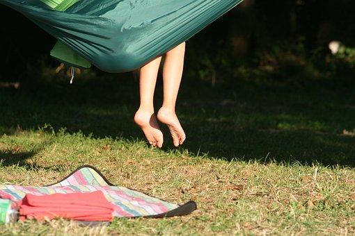 child on a hammock