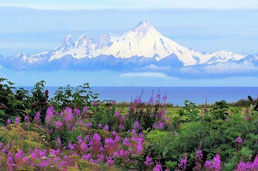 Alaska, Kenia, Mt Iliamna, Vocano
