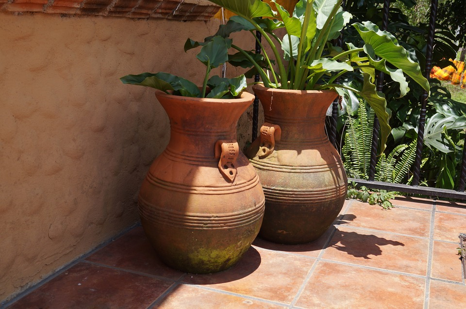 Free photo mud pots plants garden estate free image - Maceteros de barro ...