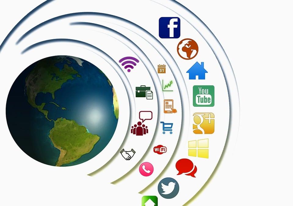 Icona, Sociale, Networking, Presentazione, Multimedia