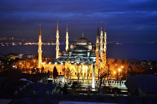 ブルーモスク, イスタンブール, トルコ語, キャミ, 夜