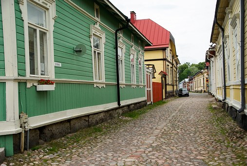 Finland, Rauma, Wooden Houses