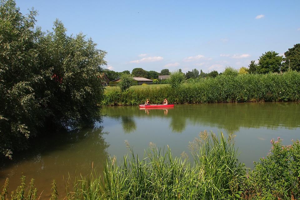 De Linge, Rivier, Kano, Natuur, Nederland, Boot