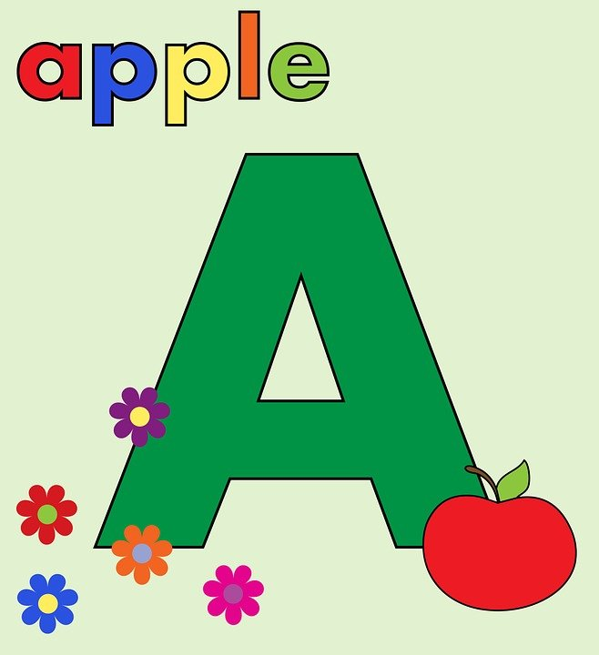 Worksheets Alphabet  Letter free illustration letter a alphabet image on a