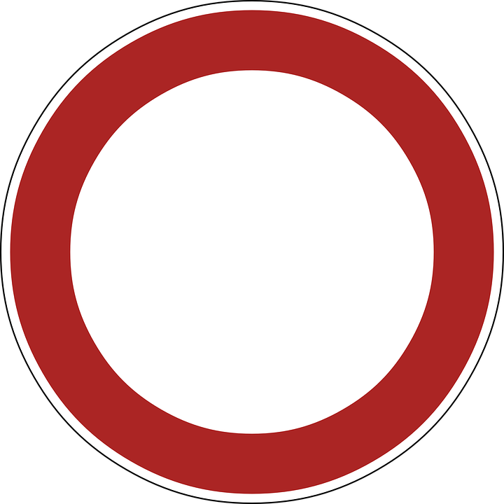 Sign No Vehicles Prohibited 183 Free Vector Graphic On Pixabay