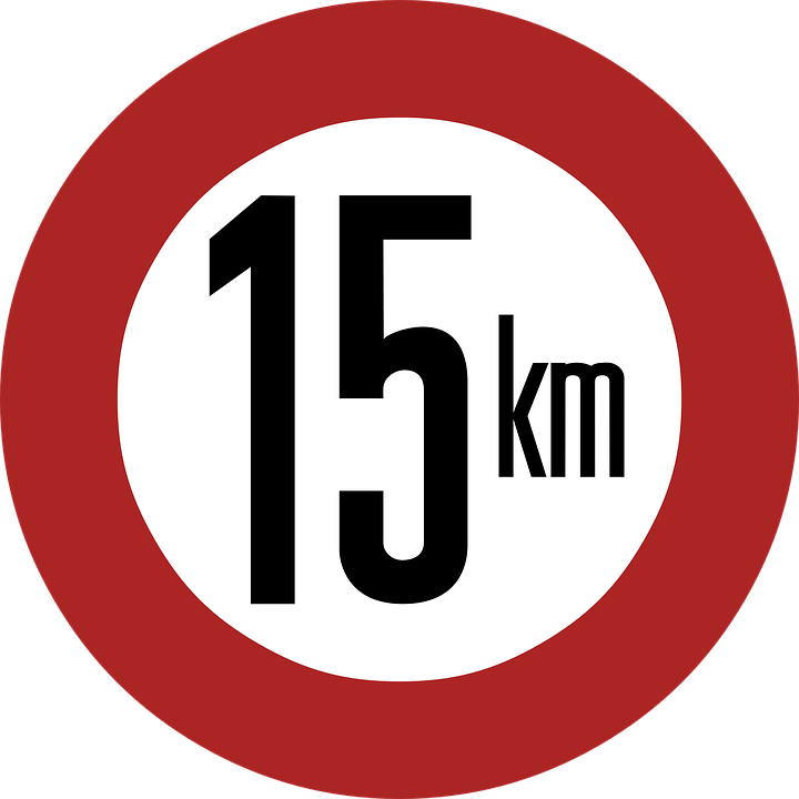 Speed Limit 15 Km Sign 183 Free Vector Graphic On Pixabay