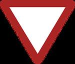 give way, danger, warning