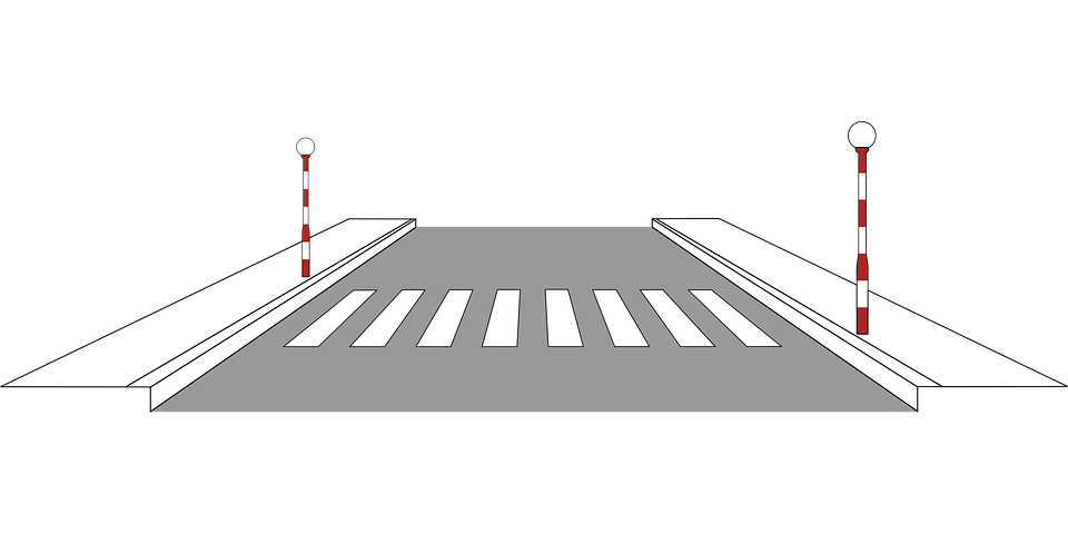 graphic road pedestrian crossing 183 free vector graphic on