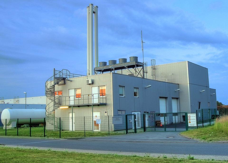 バイオマス暖房発電所, 市街, ドイツ, エネルギー, 熱, 再生可能エネルギー, 代替, 生産, 持続可能な