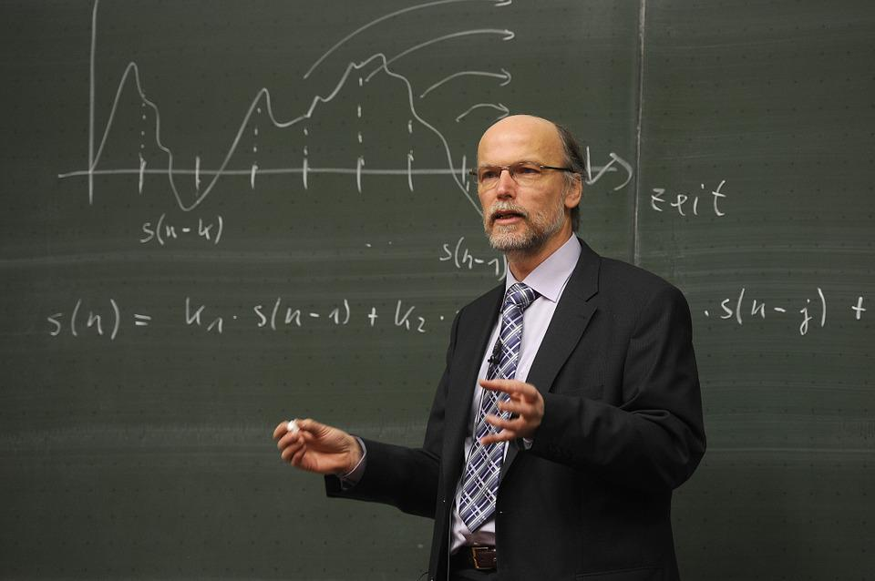 Birger Kollmeier, Professor, Blackboard, Physics