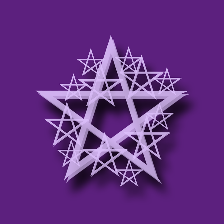 Free Illustration Pentacle Purple Wicca Paganism