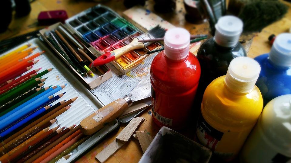 Pintura, Lápices, Plumas, Acuarela, Acrílico