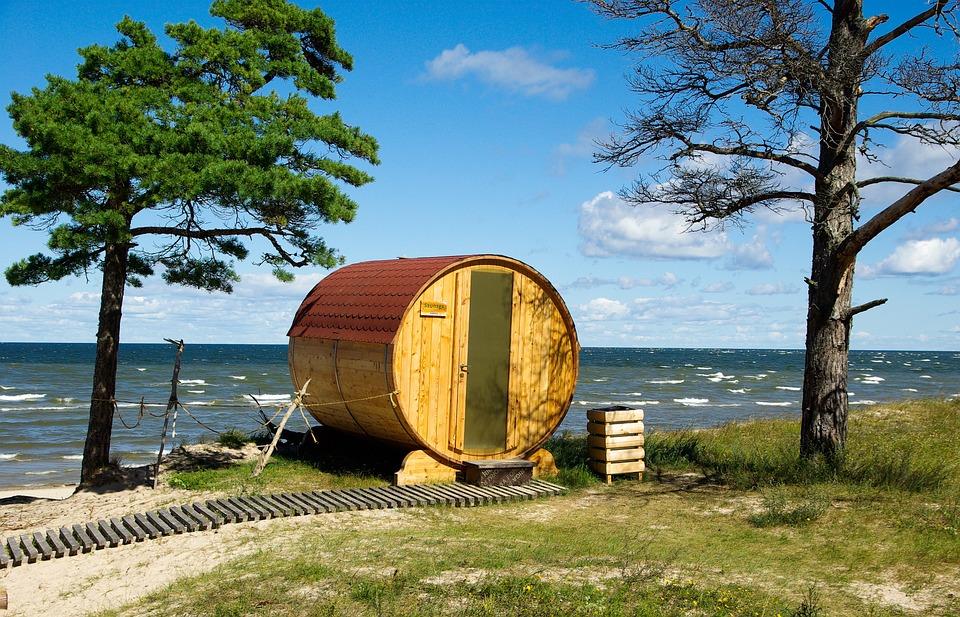 Sauna, Meer, Strand