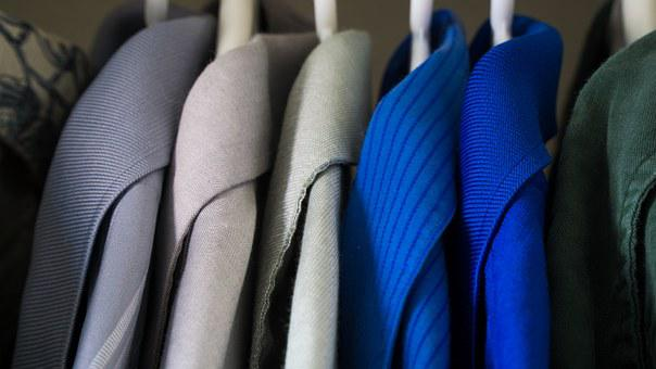 Closet, Clothes, Blue, Clothing