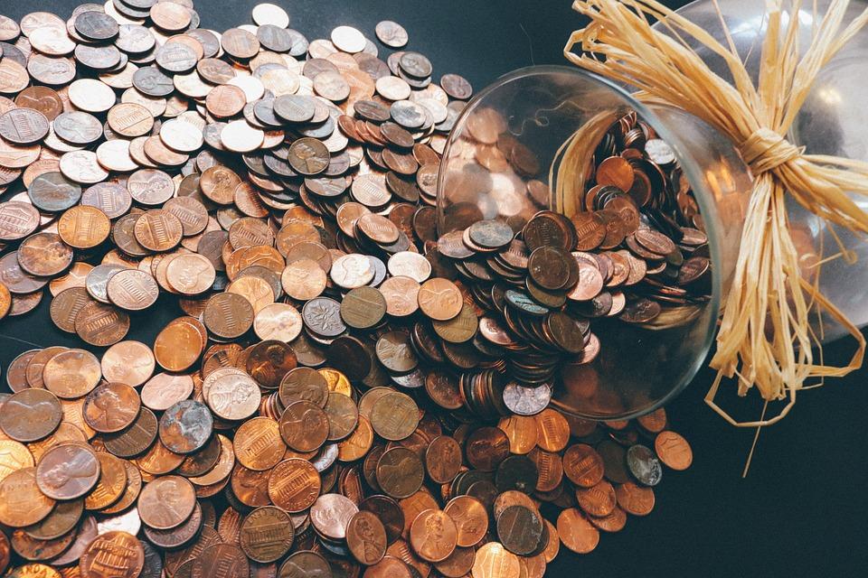 硬币, 钱, 货币, 现金, 财经, 银行, 财富, 变化, 储蓄, 经济, 业务, 预算, 储钱罐, 符号