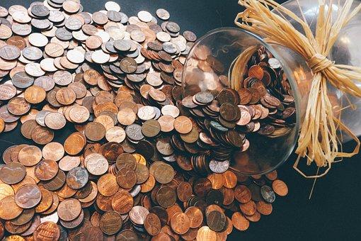 Pièces De Monnaie, Pennies, L'Argent