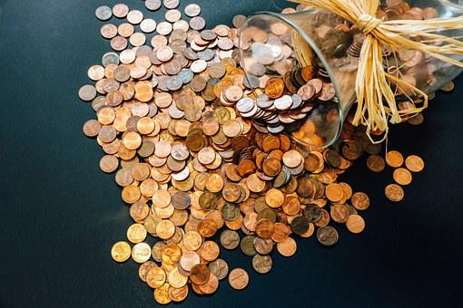 Coins Pennies Money Currency Cash Finance