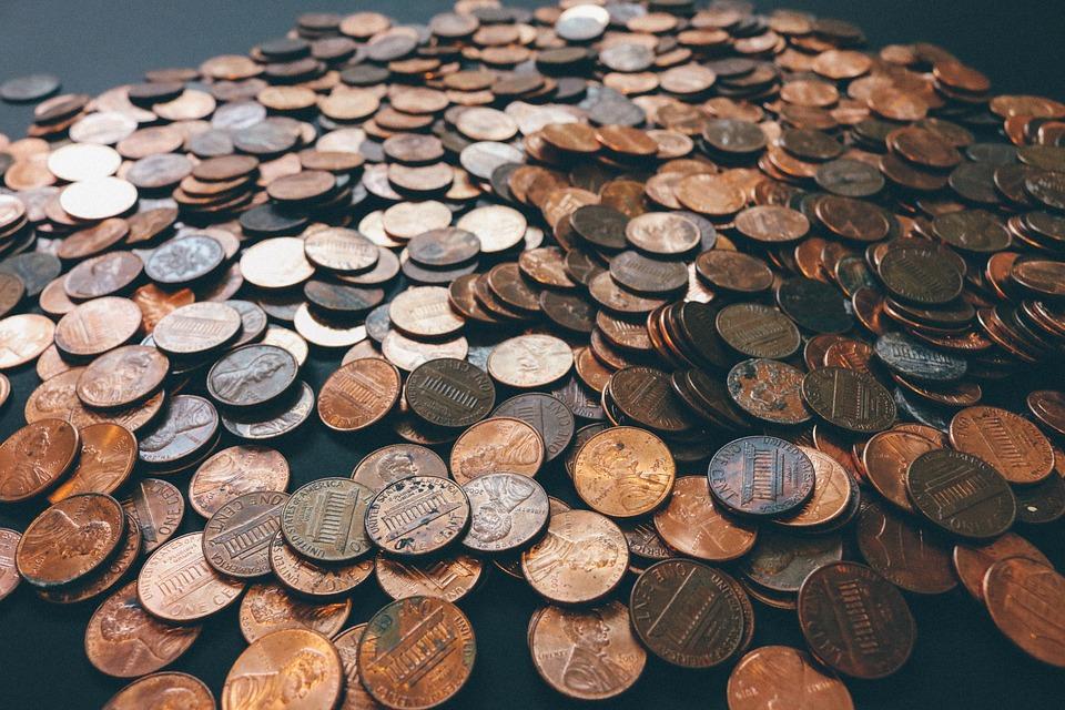 Mønter, Småpenge, Penge, Valuta, Kontanter, Finans
