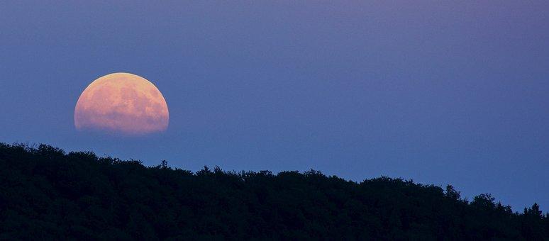 満月, スーパーセーラームーン, 月の出, ムーン, 夜, 夕暮れ, 気分