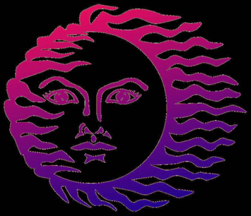 gratis illustratie zon gezicht symbool abstract