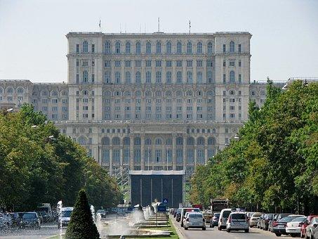 Fachada Palacio del Parlamento Bucarest