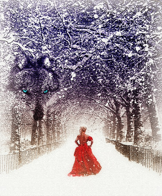 free illustration fairytale snow winter forest free