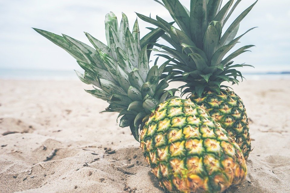 Pineapple At The Beach: Pineapples Fruit Beach · Free Photo On Pixabay
