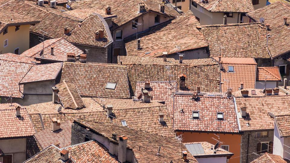 Roofs, Homes, Old Town, Italy, Red