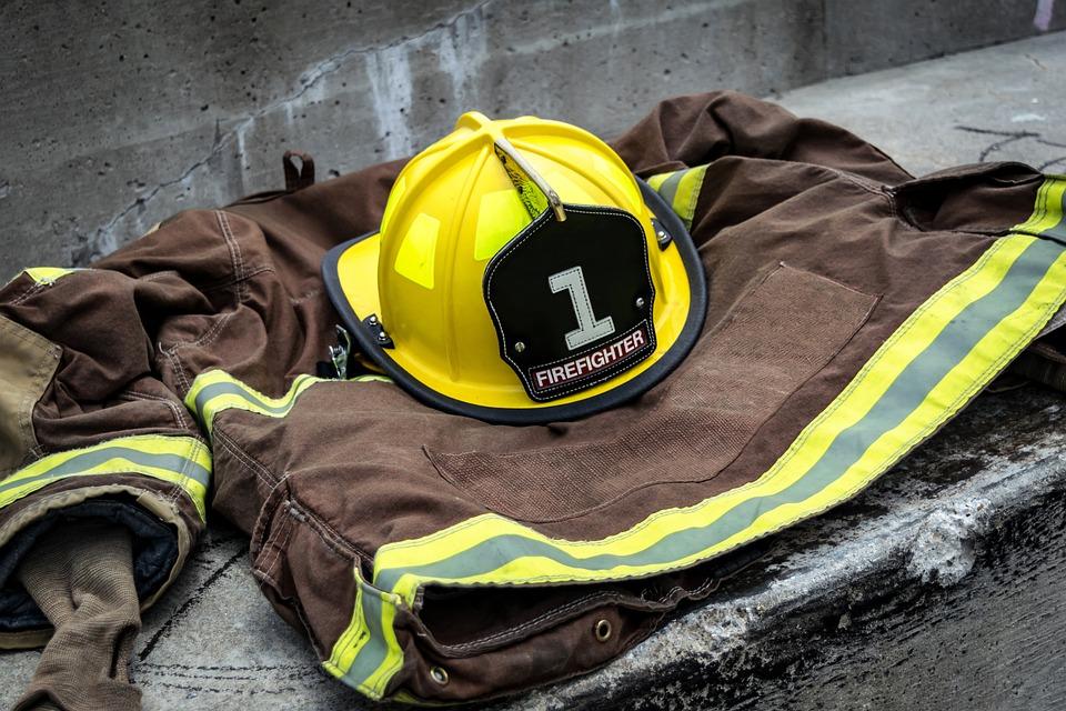 消防士, 職業, リーダーシップ, ボランティア, 制服, レスキュー, ヘルメット, 緊急, 仕事, 保護