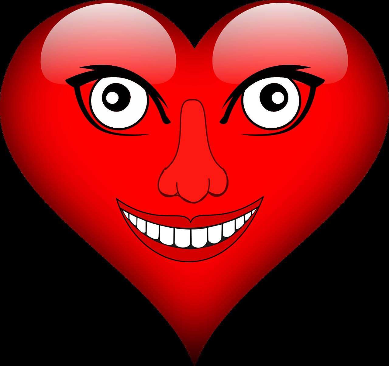 Прикольные картинки сердечек, открытка