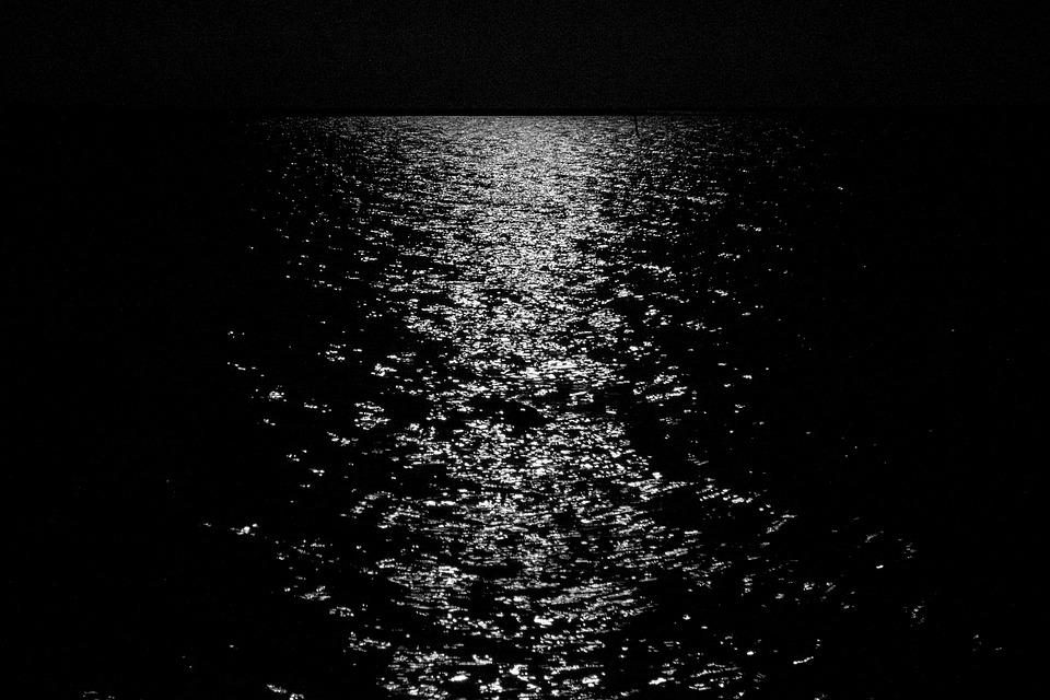 Mare Luna Mezzanotte Foto Gratis Su Pixabay