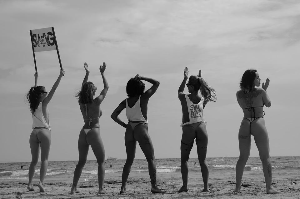 Beach Girls Nature Black Free Photo On Pixabay