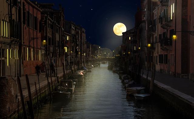 Venice Night Channel 183 Free Photo On Pixabay