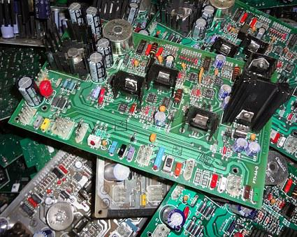 Processador, circuitos, placa verde