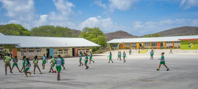 Curacao, School, Students, Children