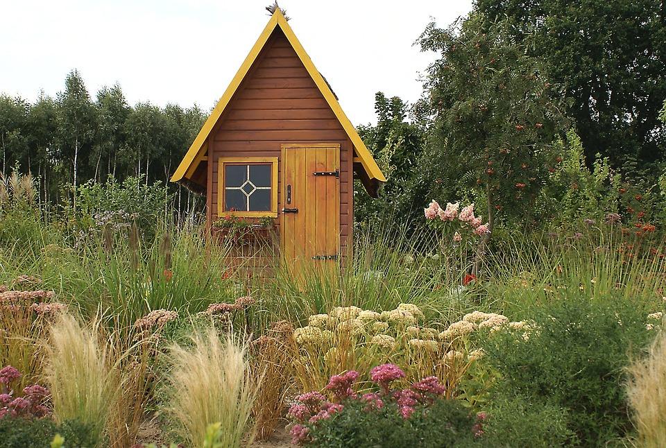 Bower Garden Cottage Vegetation Shrubs Flowers