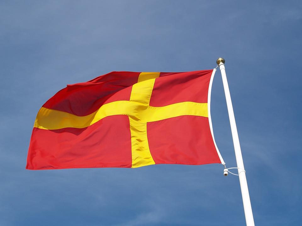 Flagga Skane Rod Gratis Foto Pa Pixabay