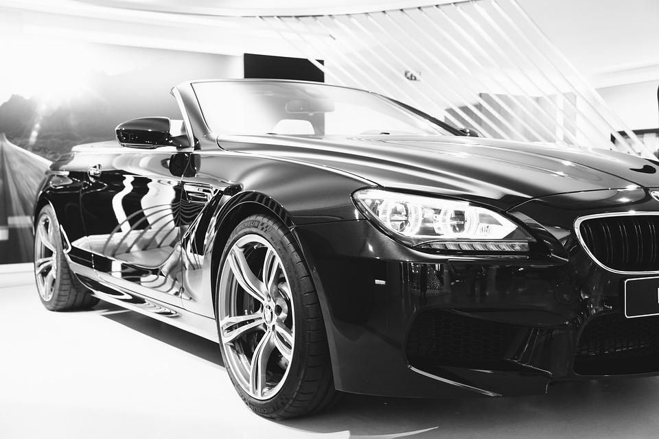 Black Bmw Car Convertible Automotive